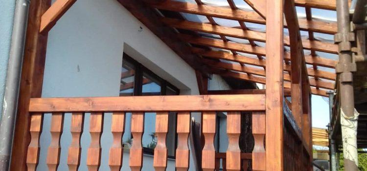 Další ukázky ze zastřešení terasy / balkónu.
