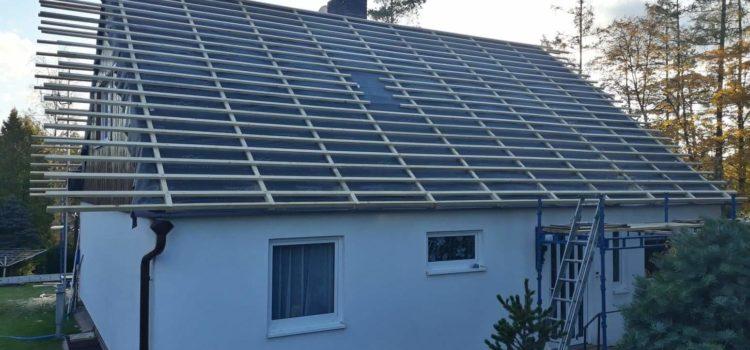 Střecha Hlinsko – téměř hotovo. Zbývá střešní krytina – betonové tašky.