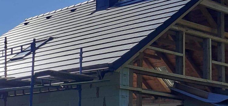 Hotová střecha i s montáží střešních oken v Borové u Poličky