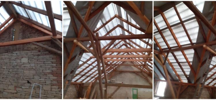 Rekonstrukce staré vazby – příprava na podkroví, okres Chrudim.