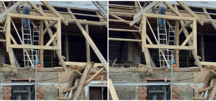 Budník, rekonstrukce starého domu